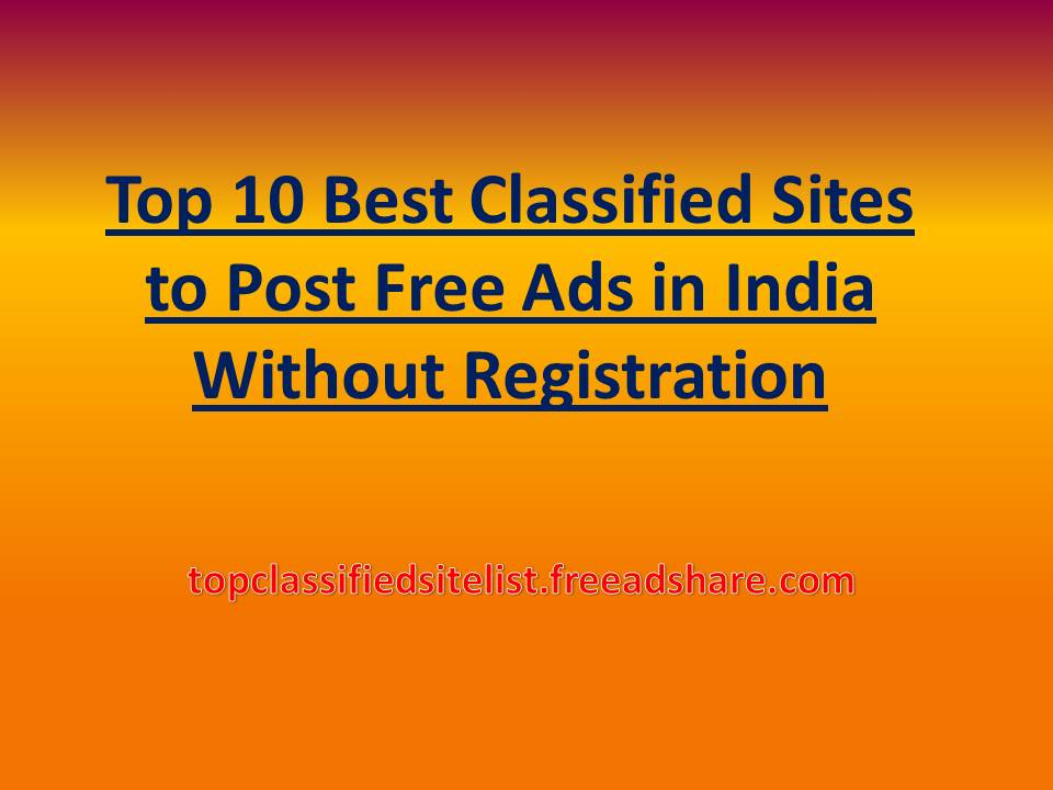 Post Free Ads In Usa Without Registration