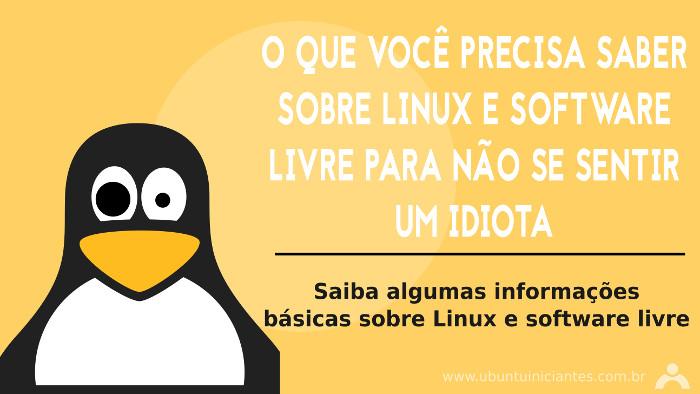 saber sobre linux e software livre