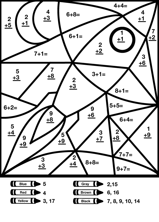 free printable mystery picture coloring pages | Other Graphical Works: Mystery Math Picture for Children's ...