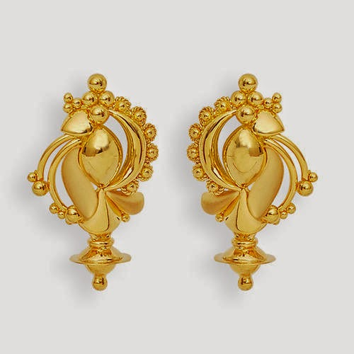 Latest jhumka and earring designs for women 2014 Indian gold