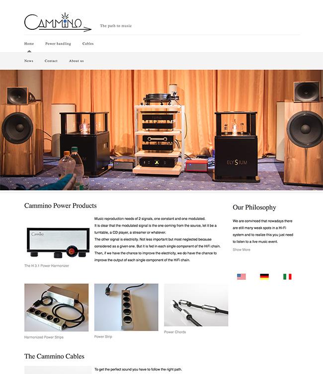 Cammino web page
