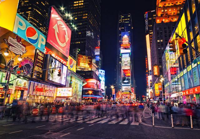 Passear pela Times Square