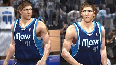 NBA 2K13 Dirk Nowitzki Cyberface Shaved / No Beard