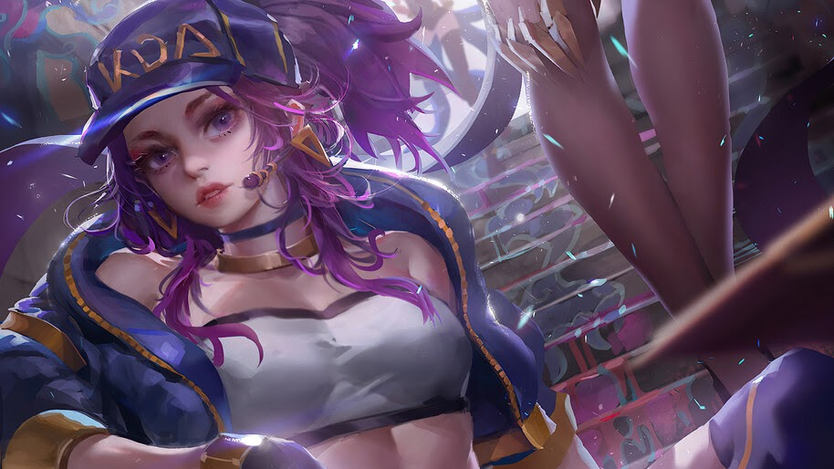 K/DA, Akali, LoL, Girl, Art, 4K, #5.2641