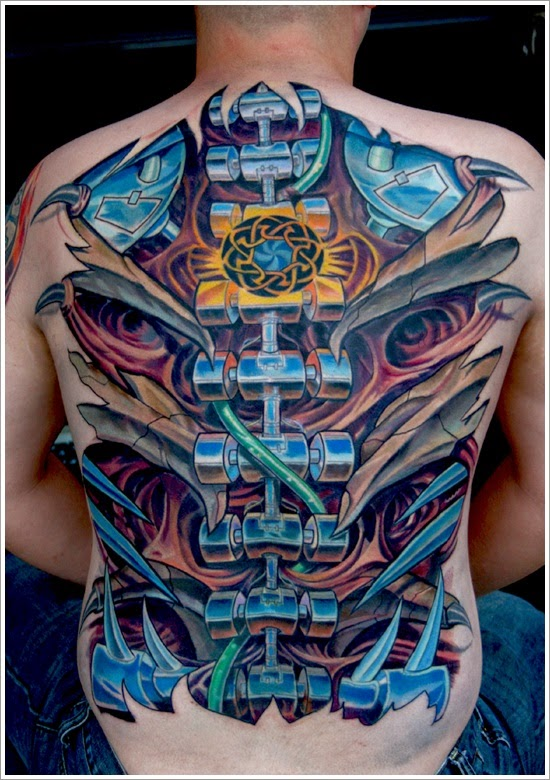7 latest biomechanical tattoo design
