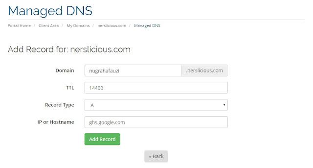 Cara Membuat dan Setting Subdomain di Blogspot Custom Domain