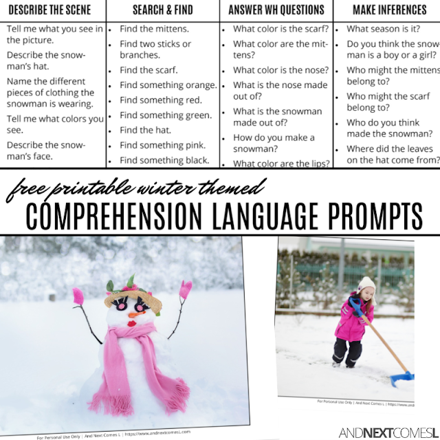 Free language comprehension pack