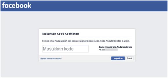 cara konfirmasi akun facebook lewat email dan nomor ponsel