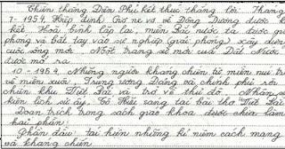 Đánh máy chữ viết tay