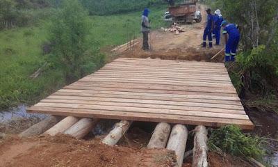 Prefeitura de Registro-SP recupera estradas e pontes danificadas pelas chuvas