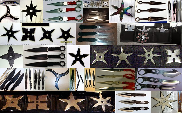 Some Of The Throwing Knives and Stars Discovered in 2013
