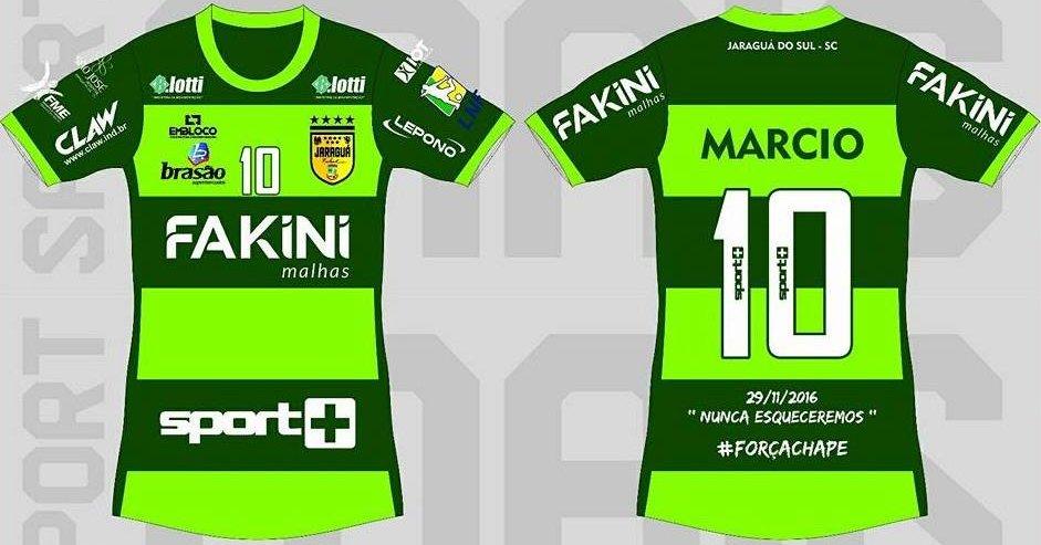 Jaraguá Futsal homenageará a Chapecoense em sua camisa - Show de Camisas 5c6c93775dc9f