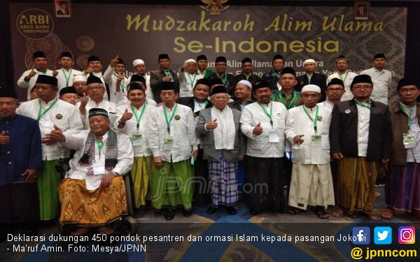 450 Pondok Pesantren dan Alim Ulama se-Indonesia Nyatakan Dukung KH Ma'ruf Amin