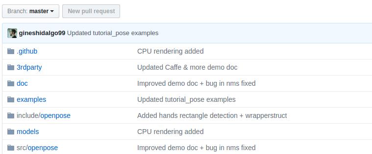 OpenCV 備忘録: CPU版 OpenPose のコンパイルと ドキュメントに関して