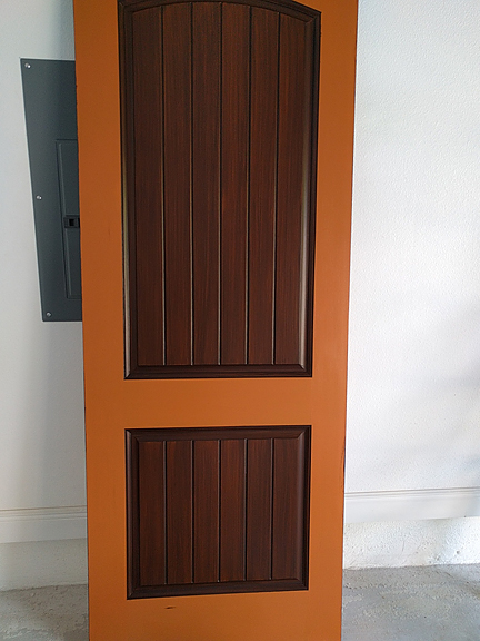 Everything I Create Paint Garage Doors To Look Like Wood Painting Doors To Look Like Wood