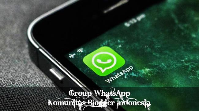 Link Grup WhatsApp Komunitas Blogger Indonesia