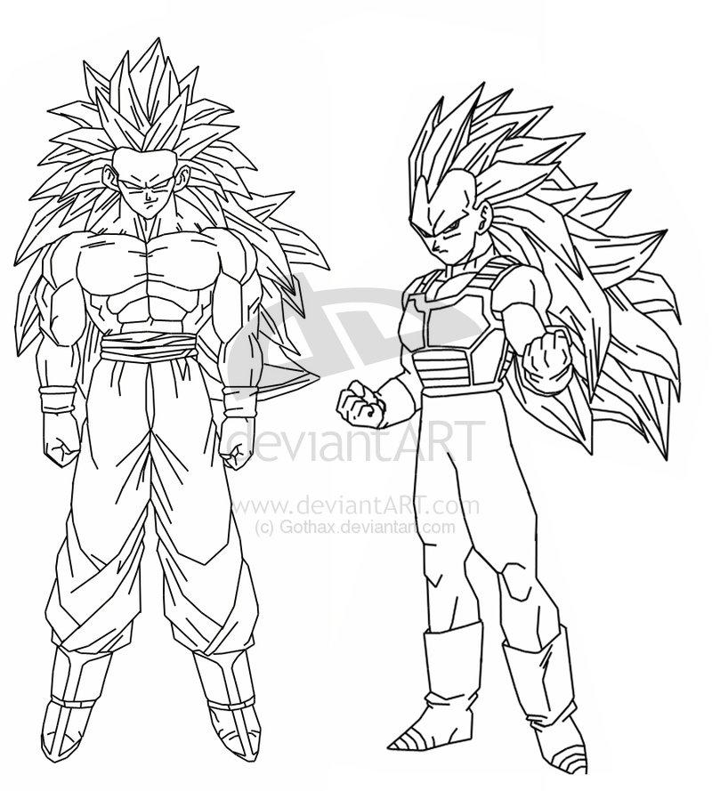 Dragon Ball Z Majin Vegeta Coloring