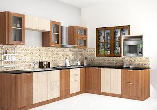 dekorasi interior kitchen set kota padang