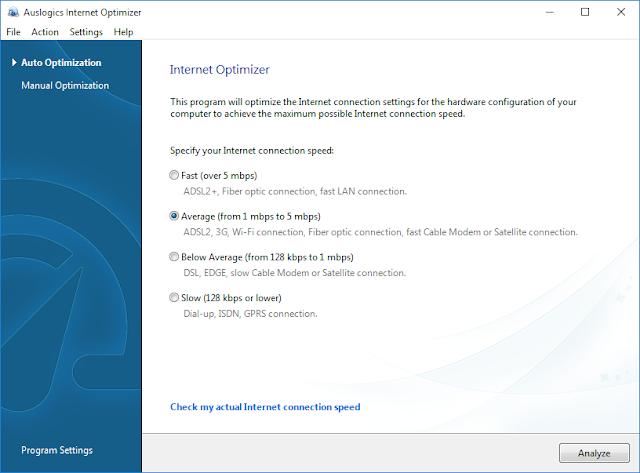 Internet Optimizer GUI Auslogics Boost Speed 8