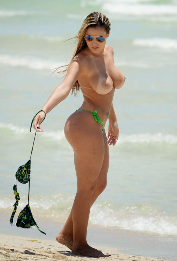 Busty Andressa Urach Topless Jet Ski In Miami Dryantas