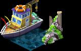 mun fishingboat PKDX 5 - Materiais para a Zona de Pesca no CityVille !
