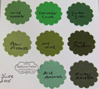 Stampin' Up! new in-colours 2015-17 green, comparison