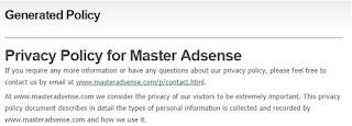 Membuat Privacy Policy Blog Agar Diterima Adsense