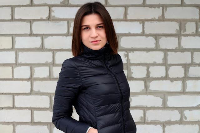 Куртка DressLily Stand Neck Puffer Jacket