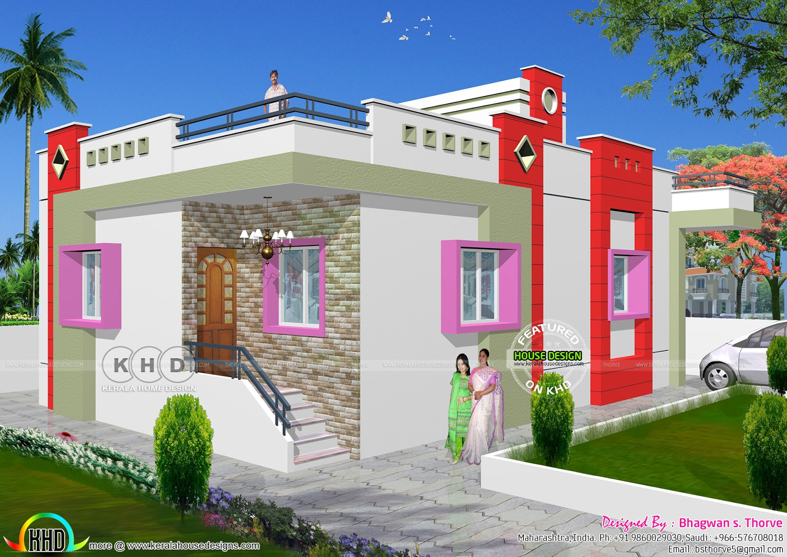 Home Design Of India 1 Bhk Low Cost North Indian Home Design Kerala Home Design And