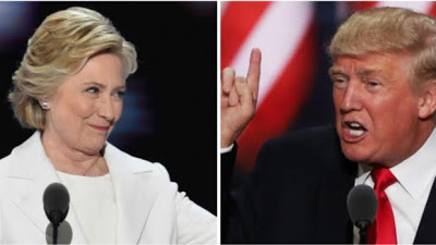 'Our country is going to hell': Donald Trump and Hillary Clinton differ over national security issues