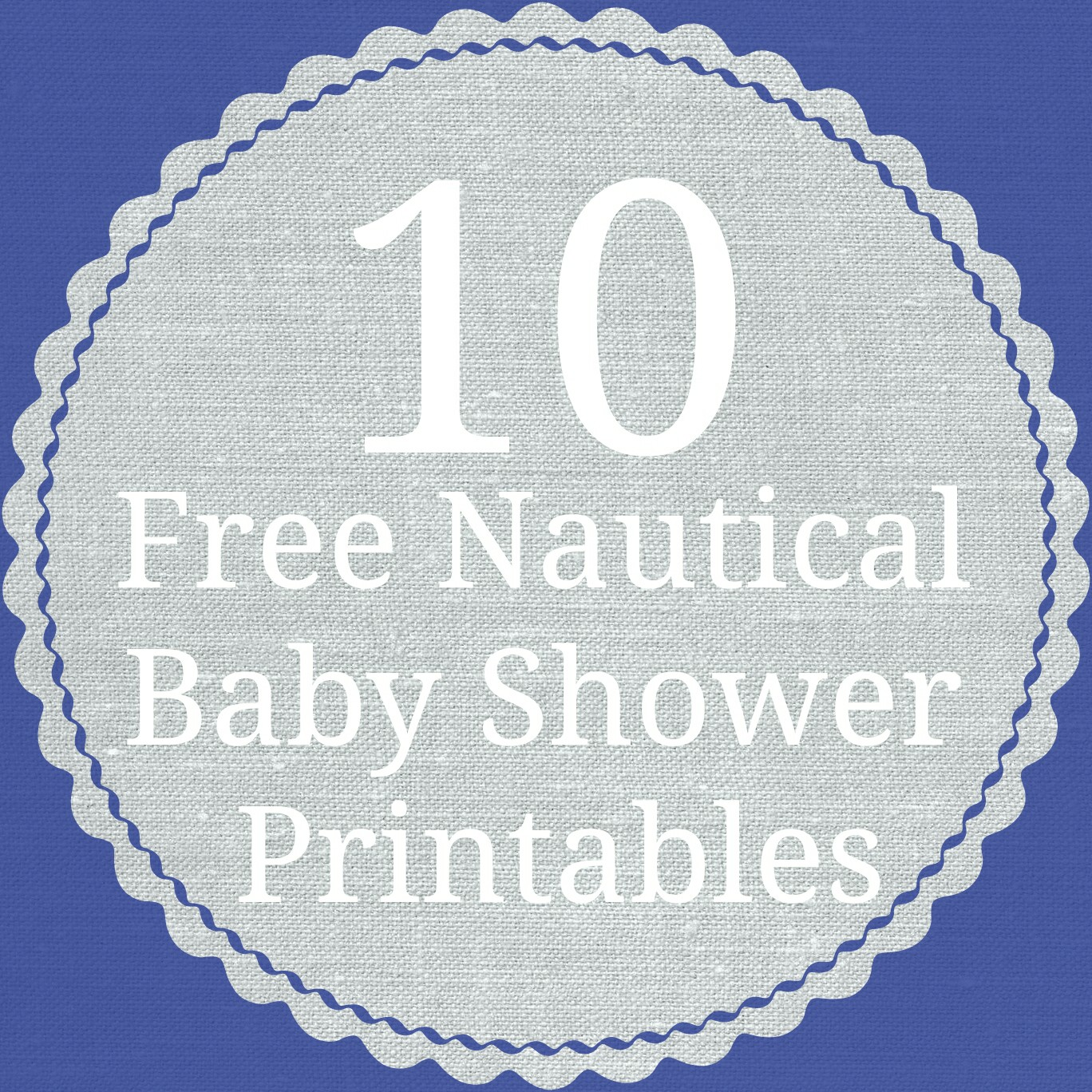 S Is For Nautical Baby Shower Printable Roundup