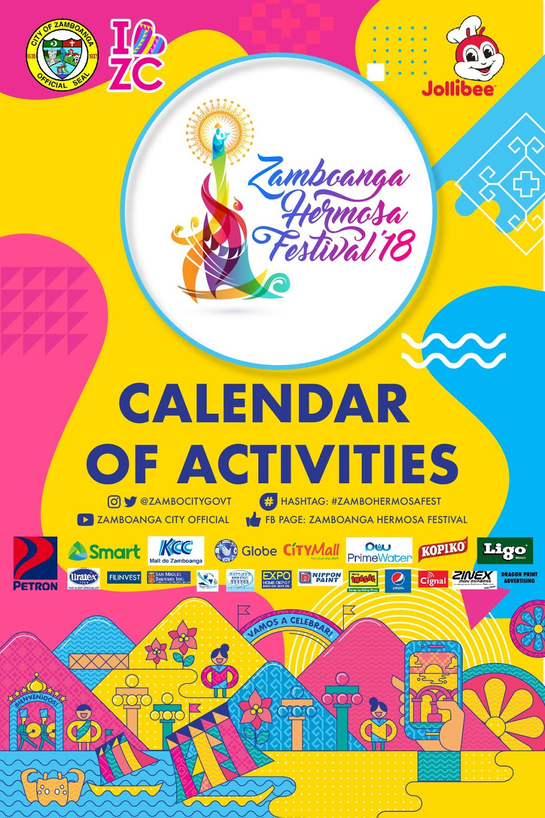 heres the updated calendar of activities for the grandest festival in the region zamboanga hermosa festival 2018 save the dates