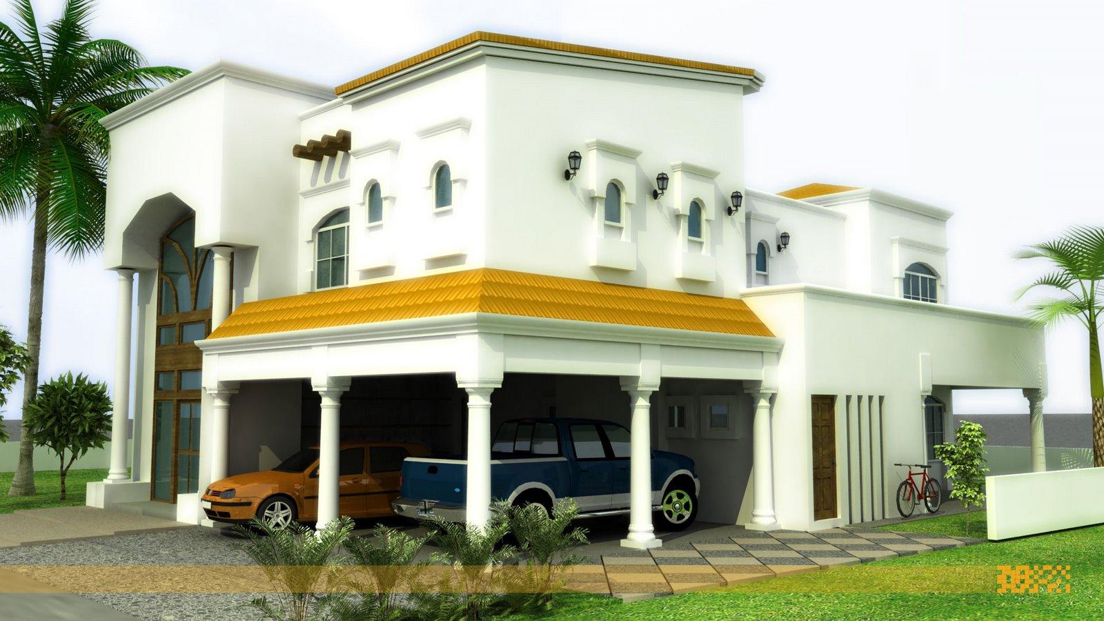 D Front Elevations : Front elevation modern house home design inside