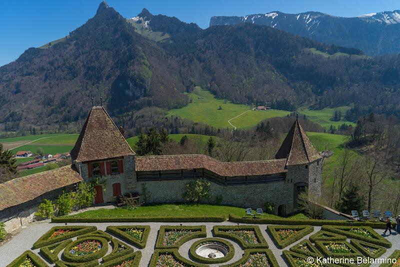 Chateau de Gruyeres Garden Lake Geneva Day Trips