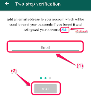 WhatsApp Screenshot - Enter Email Screen