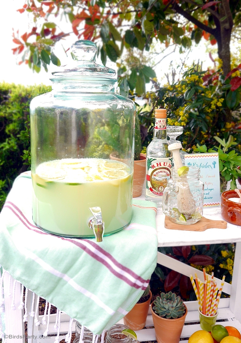 A diy mojito bar with recipe free printables party for Cocktail 40 ans