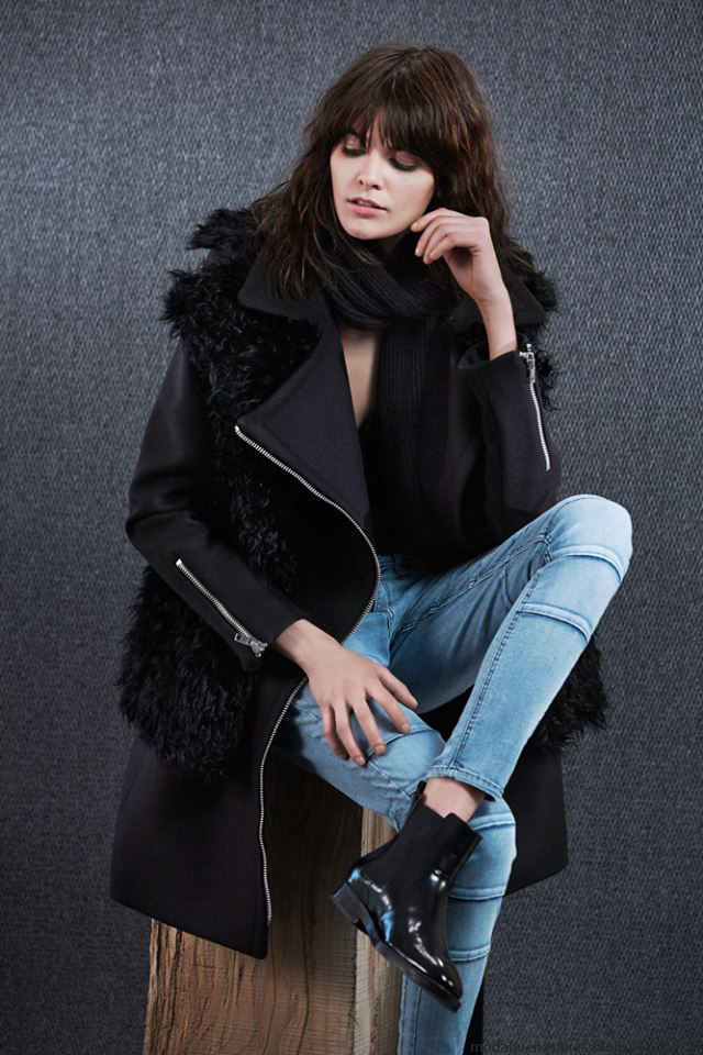 Moda invierno 2016 abrigos con piel Paula Cahen D'Anvers. MODA 2016.