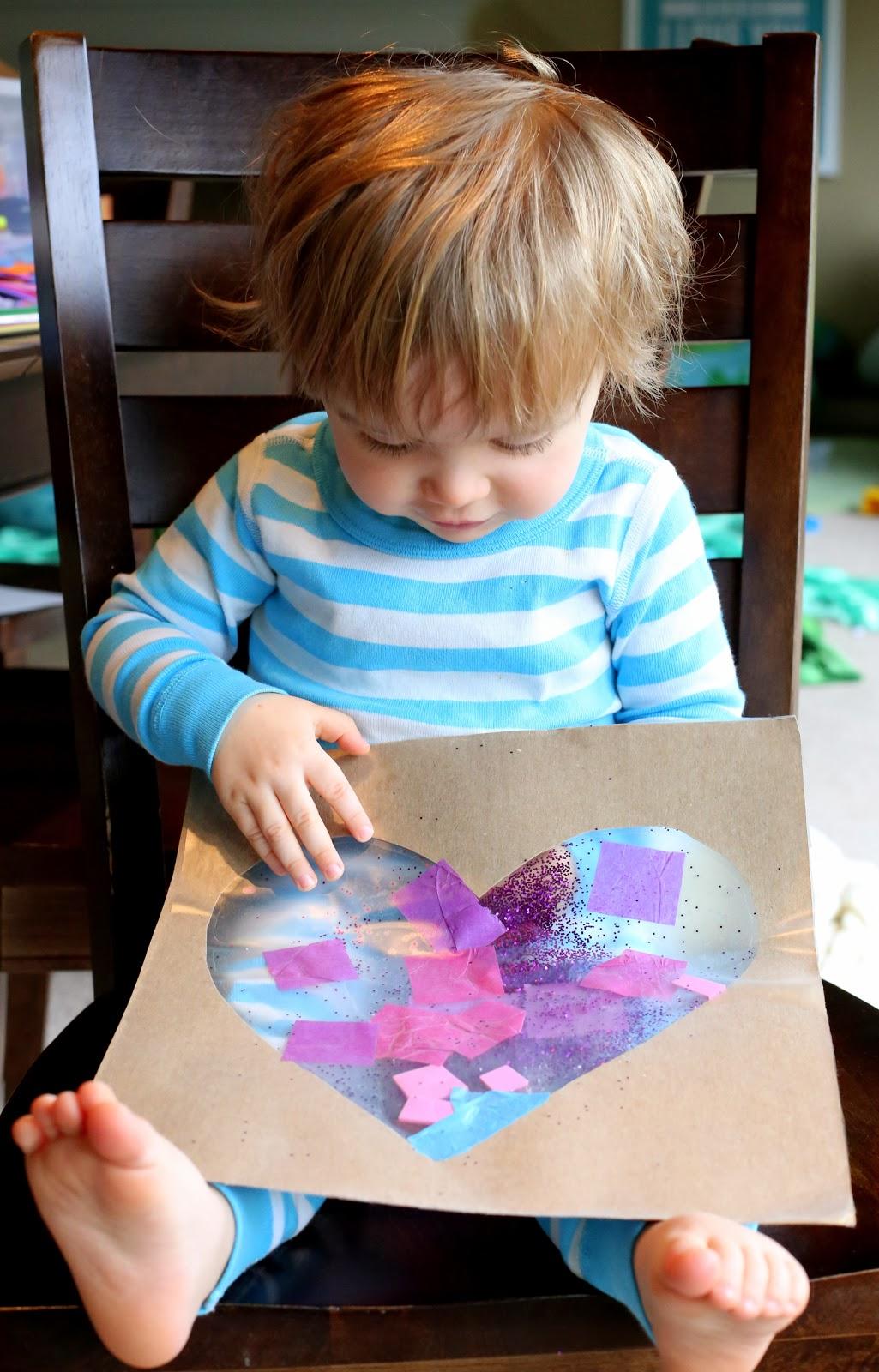 Easy Baby Toddler Valentine S Day Art
