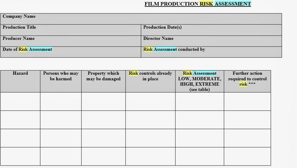 TRC News Media Risk Assessment Form And Checklist (Antonio)