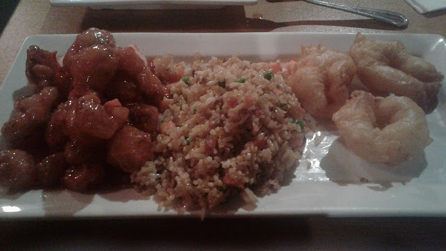 Combination plate from New China Restaurant