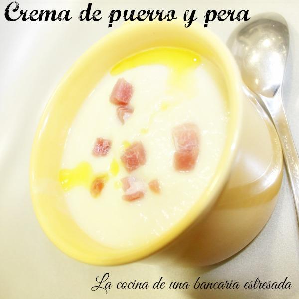 Receta de crema de puerro y pera, receta paso a paso y con fotografías