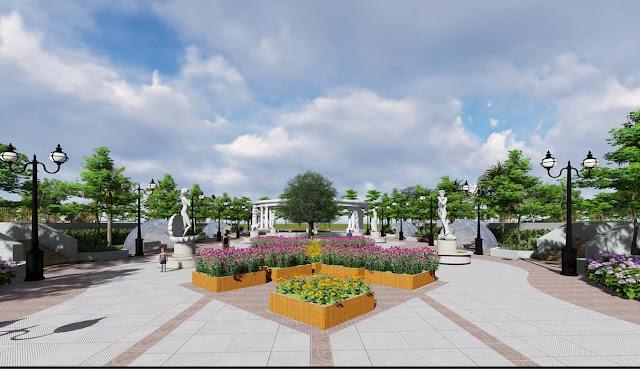 Quảng trường trung tâm tại dự án An Bình City