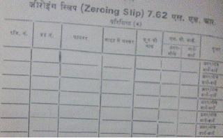 Zeroing slip