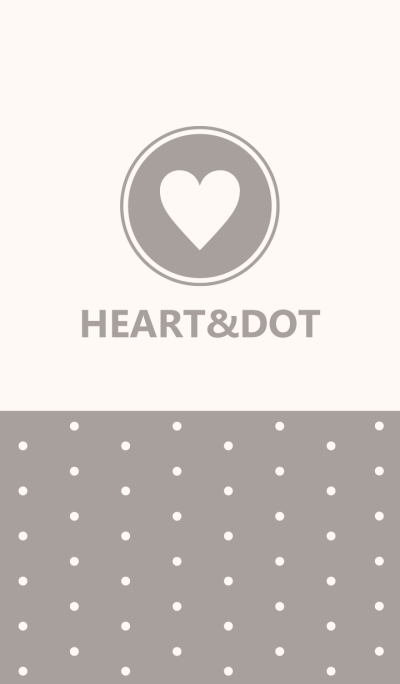 HEART&DOT -GRAY-