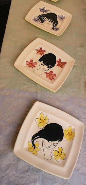 Charming 1960s plates