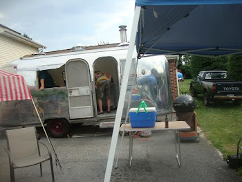 Steve's and Bob's first bakes in their vintage Airstream with a WFO!!