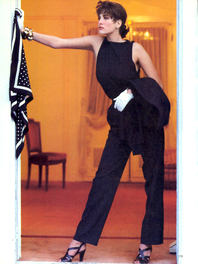 Yves Saint Laurent in Vogue US January 1986 via www.fashionedbylove.co.uk