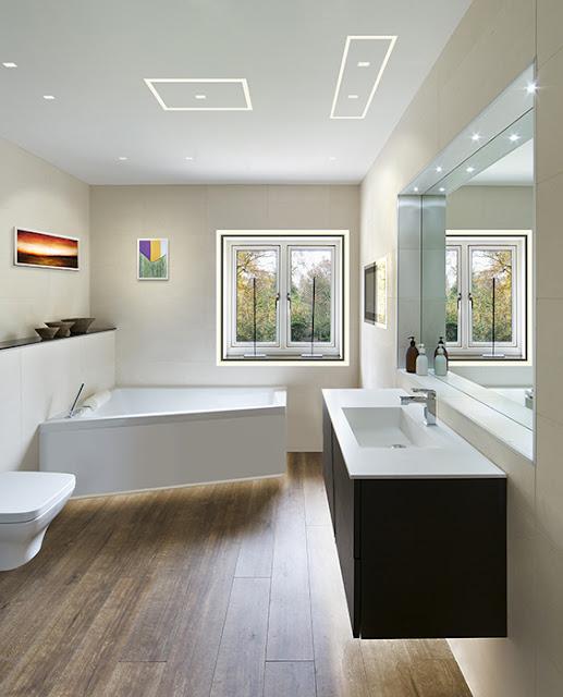 дизайнерское освещение в ванной