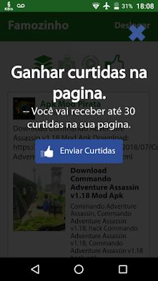 app de curtidas FB