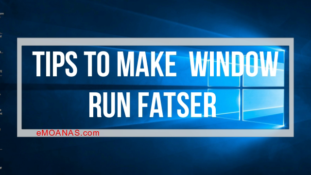 How to make your pc run faster windows 10